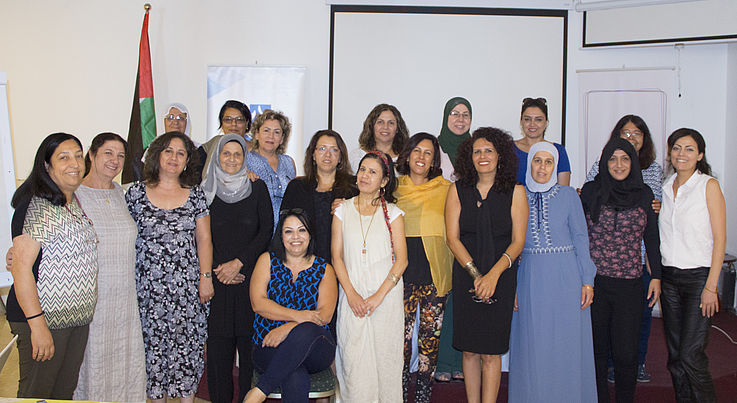 Women participants in Municipal Election training