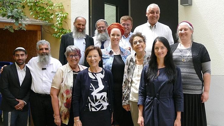 Group with Dr. Emilia Müller, Staatsministerin a.D.